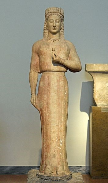 Aristion of Paros, Kore (Phrasikleia), c. 540 BCE, National Archaeological Museum, Athens.